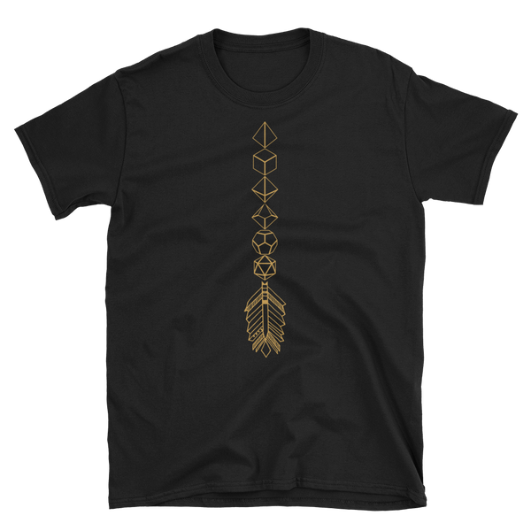 Dungeons and Dragons Shirt - Bronze Dice Arrow Dice Collector Unisex RPG Shirt - DnD Shirts Dungeon Armory