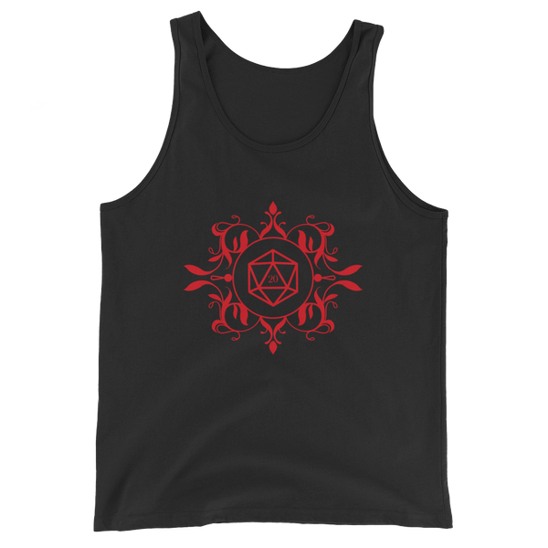 Dungeons and Dragons Shirt - Red D20 Dice Unisex RPG Tank Top - DnD Shirts Dungeon Armory