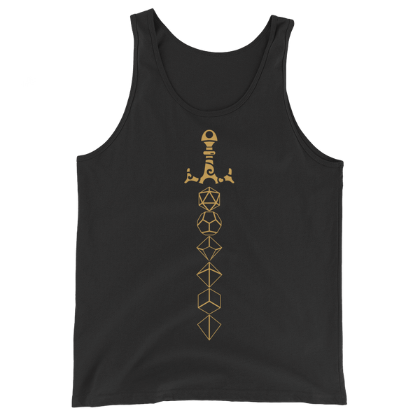 Bronze Dice Sword Unisex RPG Tank Top - Dungeon Armory - Tabletop RPG Shirt Dungeons & Dragons T-Shirt Pathfinder RPG T-Shirt