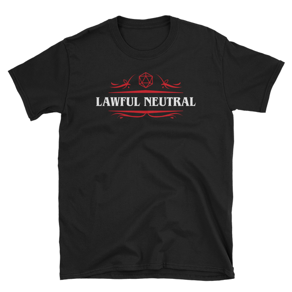 Lawful Neutral Alignment Unisex RPG Shirt - Dungeon Armory