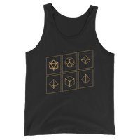 Polyhedral Dice Set Unisex RPG Tank Top - Dungeon Armory - Tabletop RPG Shirt Dungeons & Dragons T-Shirt Pathfinder RPG T-Shirt