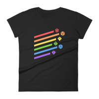 Rainbow Dice Sword Women's RPG Shirt - Dungeon Armory - Tabletop RPG Shirt Dungeons & Dragons T-Shirt Pathfinder RPG T-Shirt