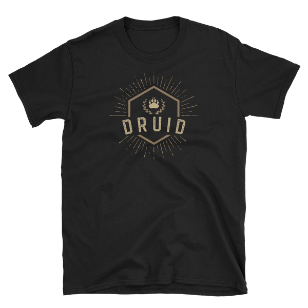 Druid Character Class Emblem Unisex RPG Shirt - Dungeon Armory - Tabletop RPG Shirt Dungeons & Dragons T-Shirt Pathfinder RPG T-Shirt