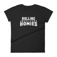 Rolling With My Homies Women's RPG Shirt - Dungeon Armory - Tabletop RPG Shirt Dungeons & Dragons T-Shirt Pathfinder RPG T-Shirt