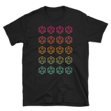 Colorfull Minimalist D20 Dice Unisex RPG Shirt - Dungeon Armory - Tabletop RPG Shirt Dungeons & Dragons T-Shirt Pathfinder RPG T-Shirt