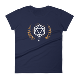 Vintage Polyhedral D20 Dice Women's RPG Shirt - Dungeon Armory - Tabletop RPG Shirt Dungeons & Dragons T-Shirt Pathfinder RPG T-Shirt