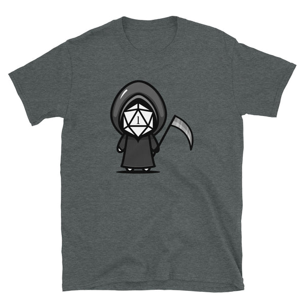 Critical Fail D20 Dice Grim Reaper RPG Unisex T-Shirt