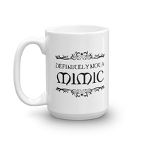 Definitely Not A Mimic White Ceramic RPG Mug - Dungeon Armory - Tabletop RPG Shirt Dungeons & Dragons T-Shirt Pathfinder RPG T-Shirt