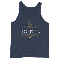 Fighter Emblem Unisex RPG Tank Top - Dungeon Armory - Tabletop RPG Shirt Dungeons & Dragons T-Shirt Pathfinder RPG T-Shirt