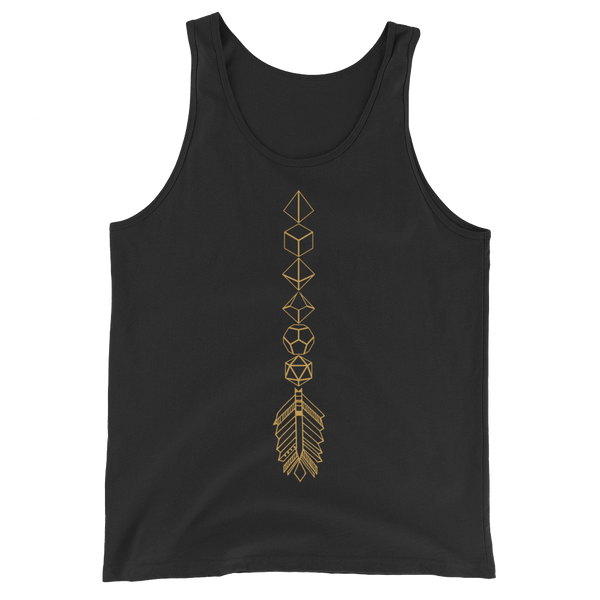 Dungeons and Dragons Shirt - Bronze Dice Arrow Dice Collector Unisex RPG Tank Top - DnD Shirts Dungeon Armory
