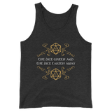 Dungeons and Dragons Shirt - The Dice Giveth and The Dice Taketh Away Unisex RPG Tank Top - DnD Shirts Dungeon Armory