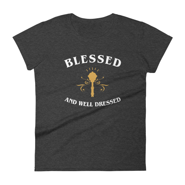 Blessed and Well Dressed Cleric Women's RPG Shirt - Dungeon Armory - Tabletop RPG Shirt Dungeons & Dragons T-Shirt Pathfinder RPG T-Shirt