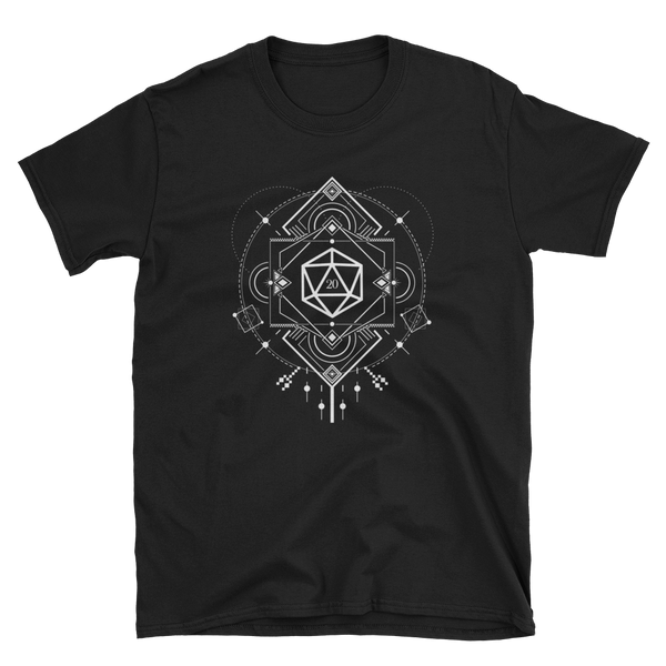 Minimalist D20 Dice Sacred Symbols Unisex RPG Shirt - Dungeon Armory - Tabletop RPG Shirt Dungeons & Dragons T-Shirt Pathfinder RPG T-Shirt