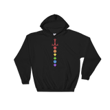 Rainbow Dice Sword Solid Colors Unisex RPG Hoodie - Dungeon Armory - Tabletop RPG Shirt Dungeons & Dragons T-Shirt Pathfinder RPG T-Shirt