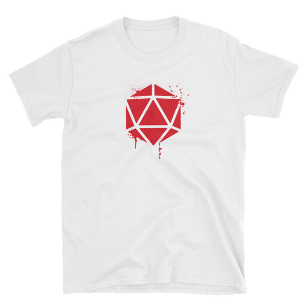 D20 Dice Dripping Paint Unisex RPG Shirt - Dungeon Armory - Tabletop RPG Shirt Dungeons & Dragons T-Shirt Pathfinder RPG T-Shirt