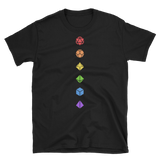 Colorful Polyhedral Dice Set Minimalistic Unisex RPG Shirt - Dungeon Armory - Tabletop RPG Shirt Dungeons & Dragons T-Shirt Pathfinder RPG T-Shirt
