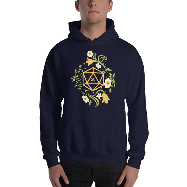 Polyhedral D20 Dice of The Druid Unisex RPG Hoodie