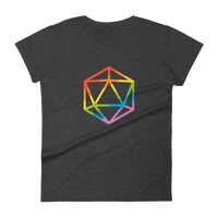Rainbow Polyhedral D20 Dice Women's RPG Shirt