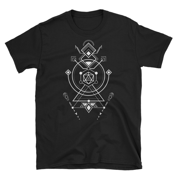 D20 Dice Minimalist Symbols Unisex RPG Shirt - Dungeon Armory - Tabletop RPG Shirt Dungeons & Dragons T-Shirt Pathfinder RPG T-Shirt