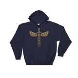 Winged Polyhedral Dice Sword Unisex RPG Hoodie - Dungeon Armory - Tabletop RPG Shirt Dungeons & Dragons T-Shirt Pathfinder RPG T-Shirt