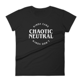 Dungeons and Dragons Shirt - Kinda Care Kinda Don't Chaotic Neutral Alignment Women's RPG Shirt - DnD Shirts Dungeon Armory