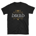 Druid Emblem Unisex RPG T-Shirt - Dungeon Armory - Tabletop RPG Shirt Dungeons & Dragons T-Shirt Pathfinder RPG T-Shirt