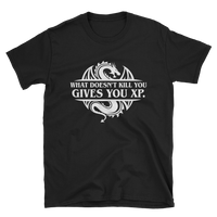 Dungeons and Dragons Shirt - What Doesn't Kill You Gives You XP Unisex Tabletop RPG Shirt - DnD Shirts Dungeon Armory