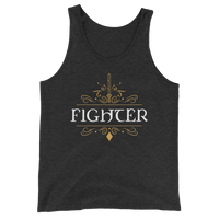 Fighter Emblem Unisex RPG Tank Top - Dungeon Armory