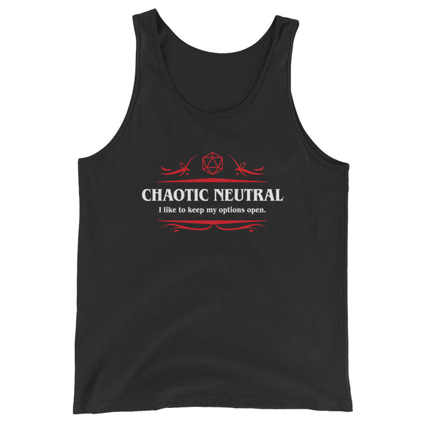 Chaotic Neutral Options Open Meme Unisex RPG Tank Top - Dungeon Armory - Tabletop RPG Shirt Dungeons & Dragons T-Shirt Pathfinder RPG T-Shirt