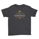 Barbarian Youth Short Sleeve T-Shirt - Dungeon Armory - Tabletop RPG Shirt Dungeons & Dragons T-Shirt Pathfinder RPG T-Shirt