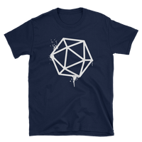 D20 Dice White Spray Paint Unisex RPG Shirt - Dungeon Armory