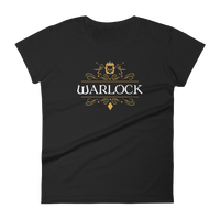 Warlock Emblem Women's RPG Shirt - Dungeon Armory - Tabletop RPG Shirt Dungeons & Dragons T-Shirt Pathfinder RPG T-Shirt