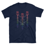 Triple Rainbow Dice Set Arrow Unisex RPG Shirt - Dungeon Armory - Tabletop RPG Shirt Dungeons & Dragons T-Shirt Pathfinder RPG T-Shirt