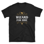 Wizard For Hire Unisex RPG T-Shirt - Dungeon Armory - Tabletop RPG Shirt Dungeons & Dragons T-Shirt Pathfinder RPG T-Shirt