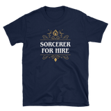 Sorcerer For Hire Unisex RPG T-Shirt - Dungeon Armory - Tabletop RPG Shirt Dungeons & Dragons T-Shirt Pathfinder RPG T-Shirt