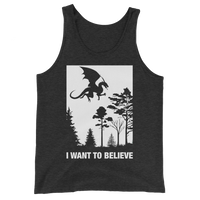 Dungeons and Dragons Shirt - I Want to Believe Dragons Unisex RPG Shirt - DnD Shirts Dungeon Armory