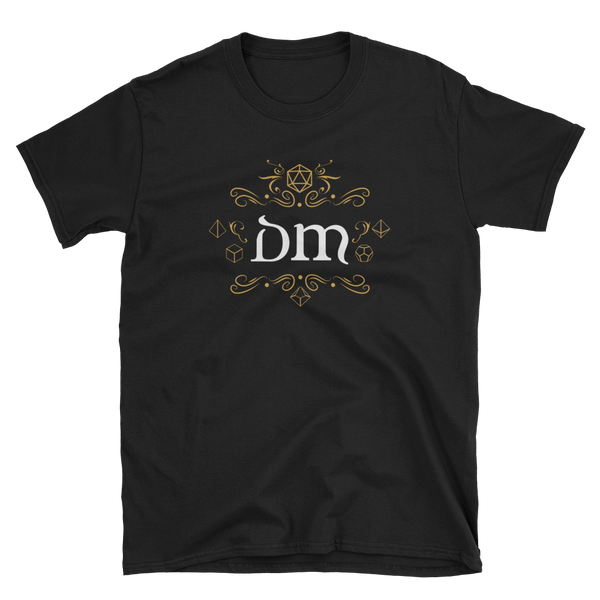 DM Emblem Dungeon Master Unisex RPG Shirt - Dungeon Armory - Tabletop RPG Shirt Dungeons & Dragons T-Shirt Pathfinder RPG T-Shirt