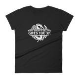 What Doesn't Kill You Gives You XP Women's RPG Shirt - Dungeon Armory - Tabletop RPG Shirt Dungeons & Dragons T-Shirt Pathfinder RPG T-Shirt