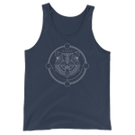 Druid Bear Form Minimalist Lines Unisex RPG Tank Top
