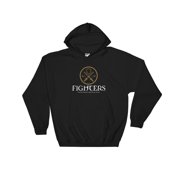 Fighters Emblem Hooded Sweatshirt - Dungeon Armory - Tabletop RPG Shirt Dungeons & Dragons T-Shirt Pathfinder RPG T-Shirt