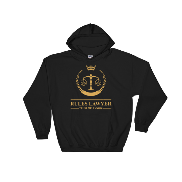 Dungeons and Dragons Shirt - Rules Lawyer - Trust Me, I Know Unisex RPG Hoodie - DnD Shirts Dungeon Armory