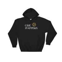 Crit Happens Hooded Sweatshirt - Dungeon Armory - Tabletop RPG Shirt Dungeons & Dragons T-Shirt Pathfinder RPG T-Shirt