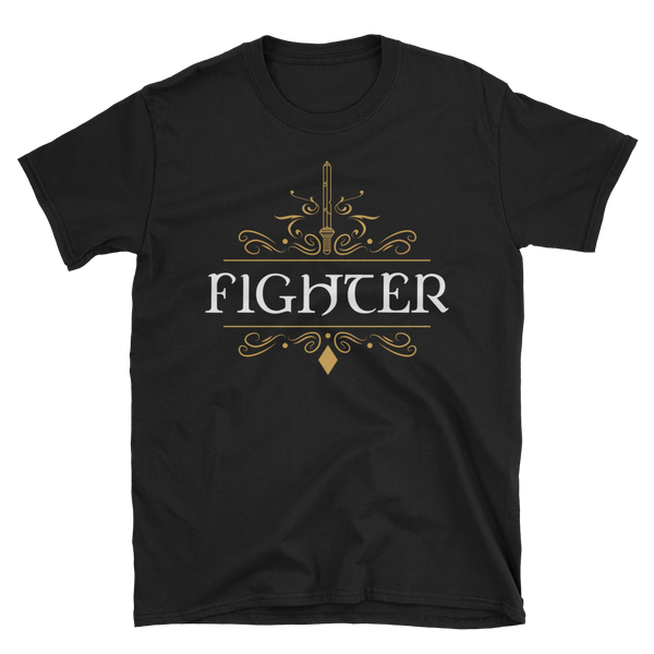 Fighter Emblem Unisex RPG Shirt - Dungeon Armory - Tabletop RPG Shirt Dungeons & Dragons T-Shirt Pathfinder RPG T-Shirt