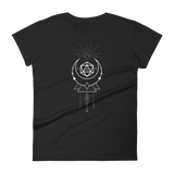 D20 Dice with Sacred Symbols Women's RPG Shirt - Dungeon Armory - Tabletop RPG Shirt Dungeons & Dragons T-Shirt Pathfinder RPG T-Shirt