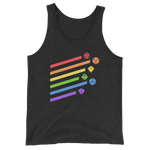 Rainbow Dice Sword Unisex Tank Top - Dungeon Armory - Tabletop RPG Shirt Dungeons & Dragons T-Shirt Pathfinder RPG T-Shirt