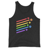 Dungeons and Dragons Shirt - Rainbow Dice Sword Unisex Tank Top - DnD Shirts Dungeon Armory