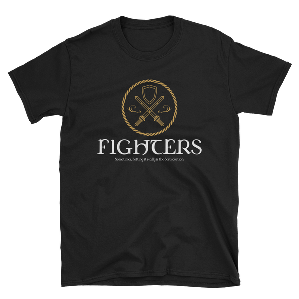 Dungeons and Dragons Shirt - Fighters Emblem Unisex RPG Shirt - DnD Shirts Dungeon Armory