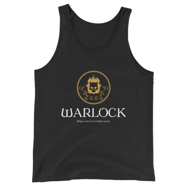 Dungeons and Dragons Shirt - Warlock Emblem Unisex RPG Tank Top - DnD Shirts Dungeon Armory