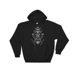 Minimalist Symbols with D20 Dice Hooded DnD Sweatshirt - Dungeon Armory - Tabletop RPG Shirt Dungeons & Dragons T-Shirt Pathfinder RPG T-Shirt