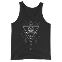 D20 Dice with Geometric Symbols Unisex RPG Tank Top - Dungeon Armory - Tabletop RPG Shirt Dungeons & Dragons T-Shirt Pathfinder RPG T-Shirt
